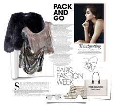 """""""Shine"""" by una21una ❤ liked on Polyvore featuring Post-It, Yves Saint Laurent, Chloé, AlexaChung, Azzaro, Haute Hippie, parisfashionweek and Packandgo"""