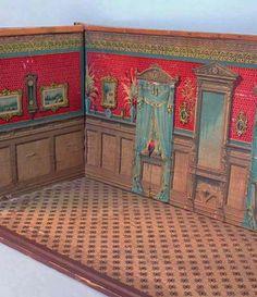 Antique dollhouse wallpaper - RB corner angle