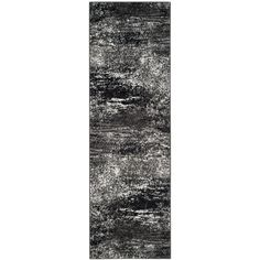 Adirondack Silver/Black 2 ft. 6 in. x 14 ft. Runner
