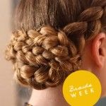 How to create a braided updo How to #braid your own hair #DIY