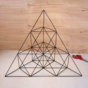 Picture of Giant Straw Tetrahedron Cluster