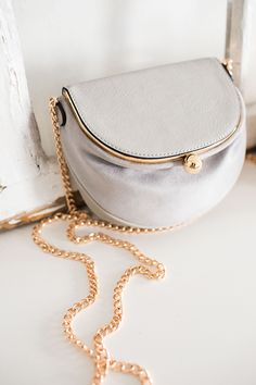 Lili Frame Flap Crossbody Bag in Dove for LC Lauren Conrad