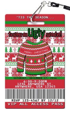 Ugly Sweater Birthday Invitations