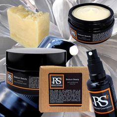 Mooie collage van de natuurlijke Bedouin Beauty verzorgingsproducten van RS Natural Cosmetics