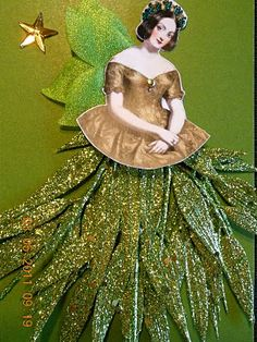 Altered art paperwhimsy pretty face