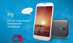 "Cubot P9 Android 4.2 3G WCDMA Smartphone 5"" QHD MTK6572W Dual Core 1.3GHz 5MP/2MP Dual Shoot 512M RAM+4GB ROM Bluetooth GPS"