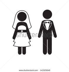 bride groom look down graphic cartoon - Google Search