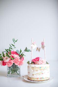 Elegant pink 1st birthday party