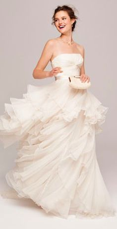 chic ruffled gown.