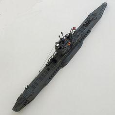 German Wolfpack Submarine Lego Submarine, Lego Boat, Lego Ww2, Lego Ship, Lego Worlds, Cool Lego Creations, Lego Design, Lego Models, Custom Lego