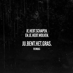 Schapen.En.Wolven. Crazy Quotes, Best Quotes, Funny Quotes, Qoutes, Nice Quotes, Happy Mind Happy Life, Happy Minds, Dutch Words, Dutch Quotes