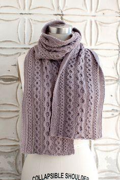 Ravelry: Forbidden Drive Scarf pattern by Jocelyn Tunney- free knitting pattern