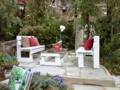 Backyard idea Outdoor Garden Rooms, Outdoor Decor, Backyard Ideas, Bliss, Outdoor Furniture Sets, Landscaping, Patio, Inspiration, Home Decor