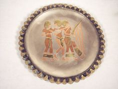 Hand Crafted Souvenir Metal Egyptian Decorative Plate by SnapshotsThroughTime