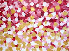 Large Falling Rich Petals No. 7 Chanel Inspired Painting on Canvas 24x18