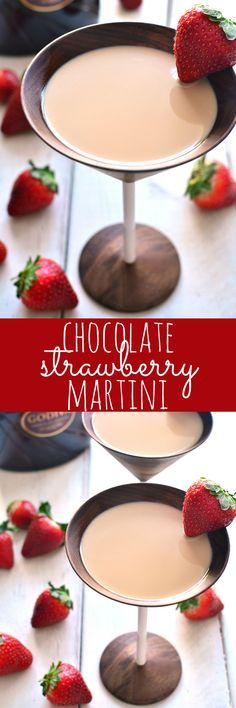The BEST Chocolate Strawberry Martini, made with just three delicious ingredients and perfect for a celebration! The BEST Chocolate Strawberry Martini, made with just three delicious ingredients and perfect for a celebration! Winter Drinks, Holiday Drinks, Summer Drinks, Holiday Recipes, Fancy Drinks, Fun Cocktails, Cocktail Drinks, Bar Drinks, Sangria