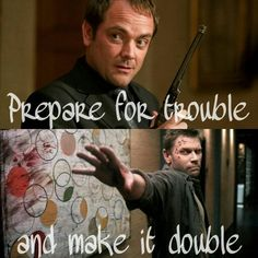 Prepare for trouble and make it double. Crowley/Lucifer Supernatural