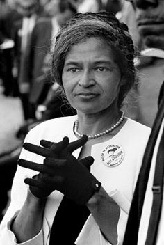 ROSA PARKS - received national recognition, including the NAACP's 1979 Spingarn Medal, the Presidential Medal of Freedom, the Congressional Gold Medal, and a posthumous statue in the United States Capitol's National Statuary Hall. Upon her death in 2005, she was the first woman and second non-U.S. government official to lie in honor at the Capitol Rotunda.