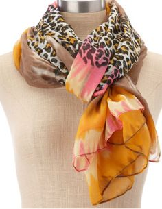 Love the Leopard print and the tie-dye together. Pretty.....