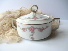 Antique Heinrich Imperial Bavarian Pink Rose Sugar by thechinagirl