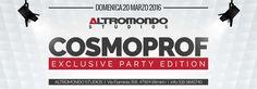 Con l'arrivo del COSMOPROF torna all'Altromondo il party esclusivo dedicato al mondo Fashion e dello Style organizzato a Bologna Fiera. Tre piste da ballo con il meglio della musica house, anni 90 e latino.
