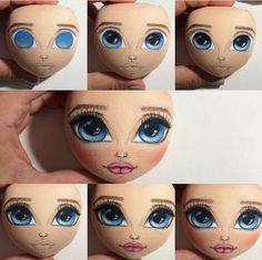 Image gallery – Page 610941505679044573 – Artofit Eye Painting, Doll Painting, Eye Tutorial, Doll Tutorial, Felt Dolls, Baby Dolls, Doll Face Paint, Fabric Toys, Creation Couture