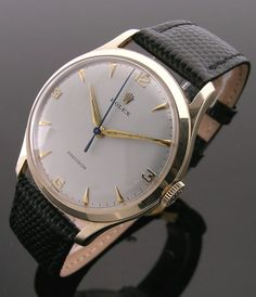 A 9ct gold round vintage Rolex Precision watch, 1960