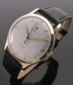 A 9ct gold round vintage Rolex Precision watch, 1960