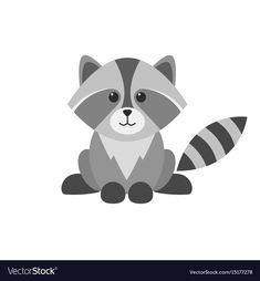 Cute cartoon raccoon vector image on VectorStock Baby Raccoon, Cute Raccoon, Baymax, Raccoon Drawing, Raccoon Illustration, Woodland Critters, Doodle Inspiration, Cute Cartoon Animals, Kawaii Art