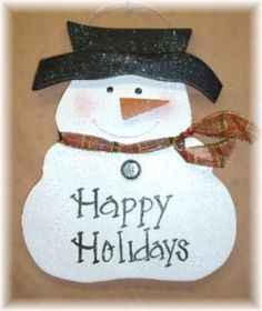 Christmas Frosty The Snowmen Wood Sign