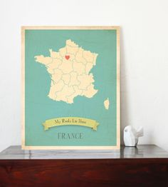 France Roots Map 11x14