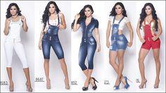 Pathymoda: Enterizo jeans colombiano cheviotto