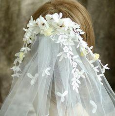 New Bridal Flower Veil Sweet Tiara Wedding Hair Accessories Jewelry Lady Novia Casamento Acessorios Para Mulher(China (Mainland))