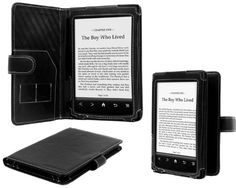 Navitech Black Genuine Napa Leather Flip Open 6 - Inch Book Style Carry Case / Cover for the Sony PRS T1 Touch e-reader DeviceTM by Navitech. $12.99
