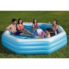 My Sunshine 110 x 110 x 20 Octagonal Inflatable Swimming Pool