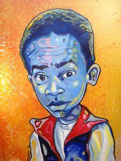 """Everybody hates Chris!"" acrylics on canvas"