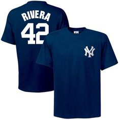 9f5206ab4ec Majestic New York Yankees Mariano Rivera Navy Blue Player T-shirt