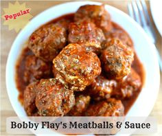 Bobby Flays meatball (and sauce) recipe is a perfect combination of ingredients and flavors, this will be your new go-to meatball recipe