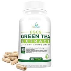 Green Tea Supplement EGCG Belly Fat Burner Weight Loss Pills for Women and Men – Anti-Aging – Boost Metabolism & Better Heart System – Pre Workout + Natural Energy – Detox Cleanse By BeLive  Check It Out Now     $49.99      BeLive's Green Tea EGCG:  Epig #bellyfatburnerpills #bellyfatburnerdetox #bellyfatburnerformen