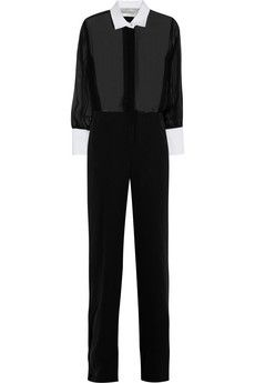 Valentino Silk-chiffon and georgette jumpsuit   THE OUTNET £621.25 Original price £1,775 65% off