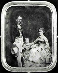 Little Rudolf with his parents Emperor Franz Joseph and Empress Elisabeth