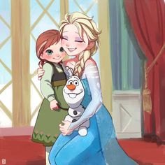 Little Anna seeing Elsa in Disney World! Cute! #Frozen