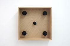 Modell Netzbild - 2011 - 40 x 40 x 9 cm - Mikrophonschutz und Holz