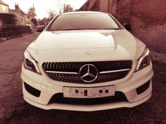 Mercedes CLA 180 AMG Sport White Black Wheels Panoramic Roof