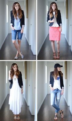 Swap out your lightweight summer jacket for a chic blazer! Try out one of these 6 stylish looks and put that blazer to use all year long.
