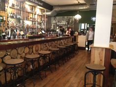 The original Steel Magnolias barstools at Annies Burger Shack in Nottingham.