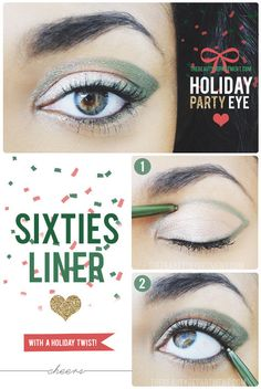 Try a geometric Sixties liner this holiday season! It's surprisingly easy!