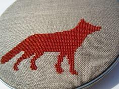Fox Modern Cross Stitch, $50.00 from Wall Work