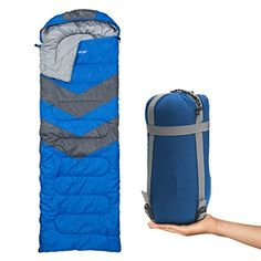 Sleeping Bag  Envelope Lightweight Portable Waterproof Comfort With Compression Sack  Great For 4 Season Traveling Camping Hiking  Outdoor Activities SINGLE >>> You can find more details by visiting the image link.