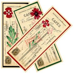 Time for some bookmarks , hope you like these. Tie them together with a pretty ribbon and you have a small gift for someone who loves to rea. Vintage Bookmarks, Vintage Labels, Vintage Ephemera, Vintage Paper, Vintage Floral, Free Printable Bookmarks, Bookmark Template, Free Printables, Printable Tags